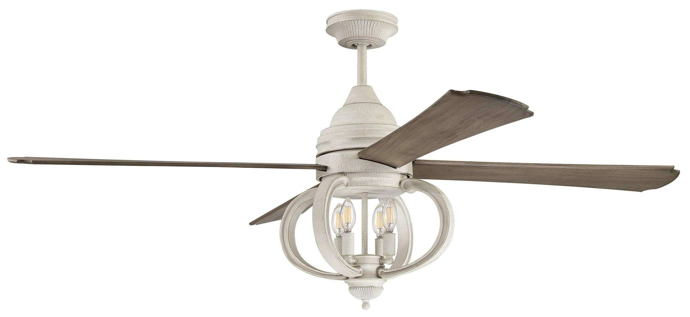 Craftmade AUG60CW4 Augusta 60 Inch Ceiling Fan w/Blades & Light Kit In Cottage White