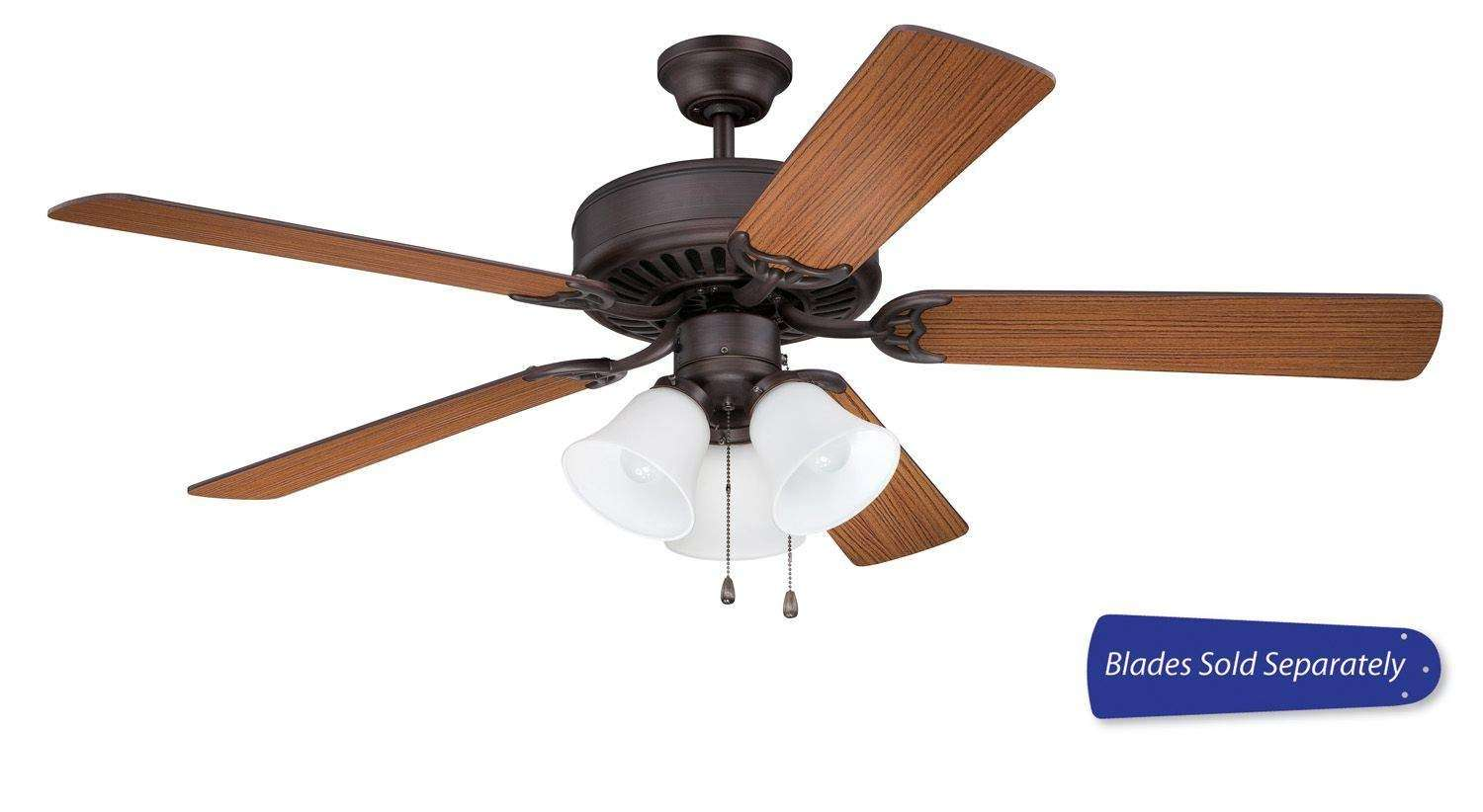 Craftmade Pro Builder 205 Ceiling Fan Model CF-C205FB in Flat Black