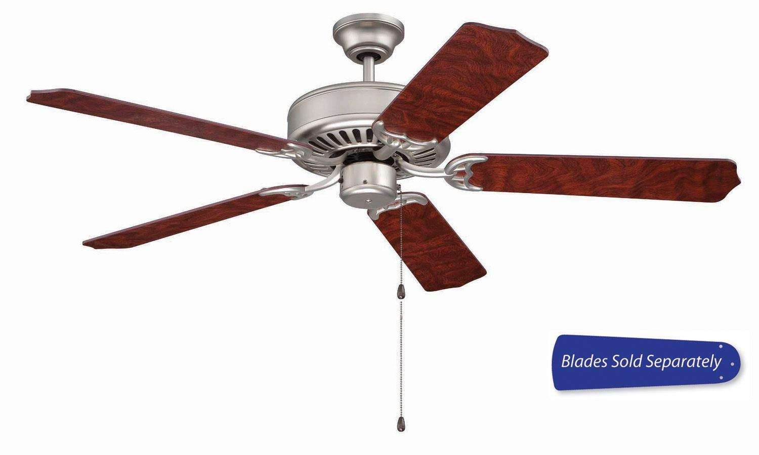 Craftmade Pro Builder Ceiling Fan Model C52BN in Brushed Nickel