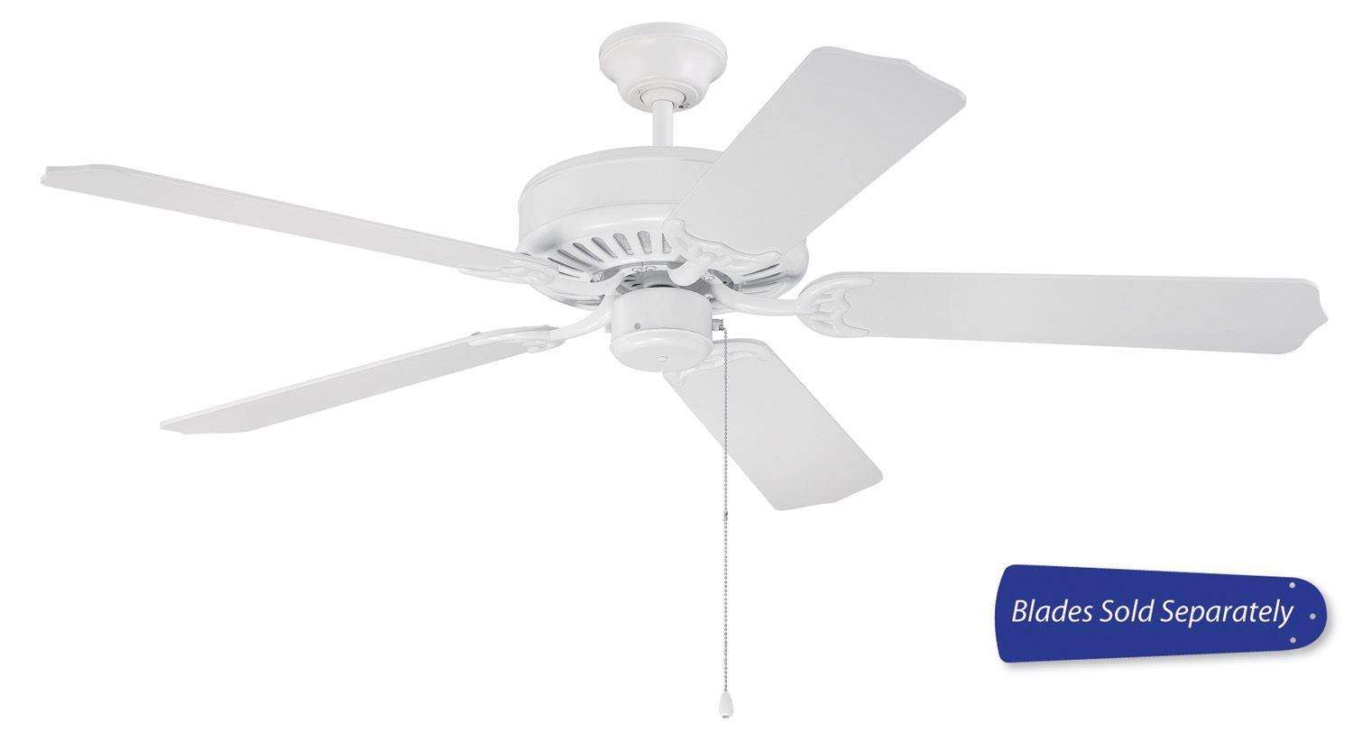 Craftmade Pro Builder Ceiling Fan Model C52W in Gloss White