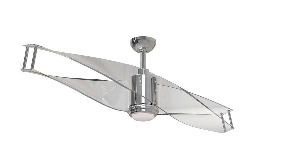 ILU56PLN2 Craftmade 56 Inch Illusion Ceiling Fan In Polished Nickel