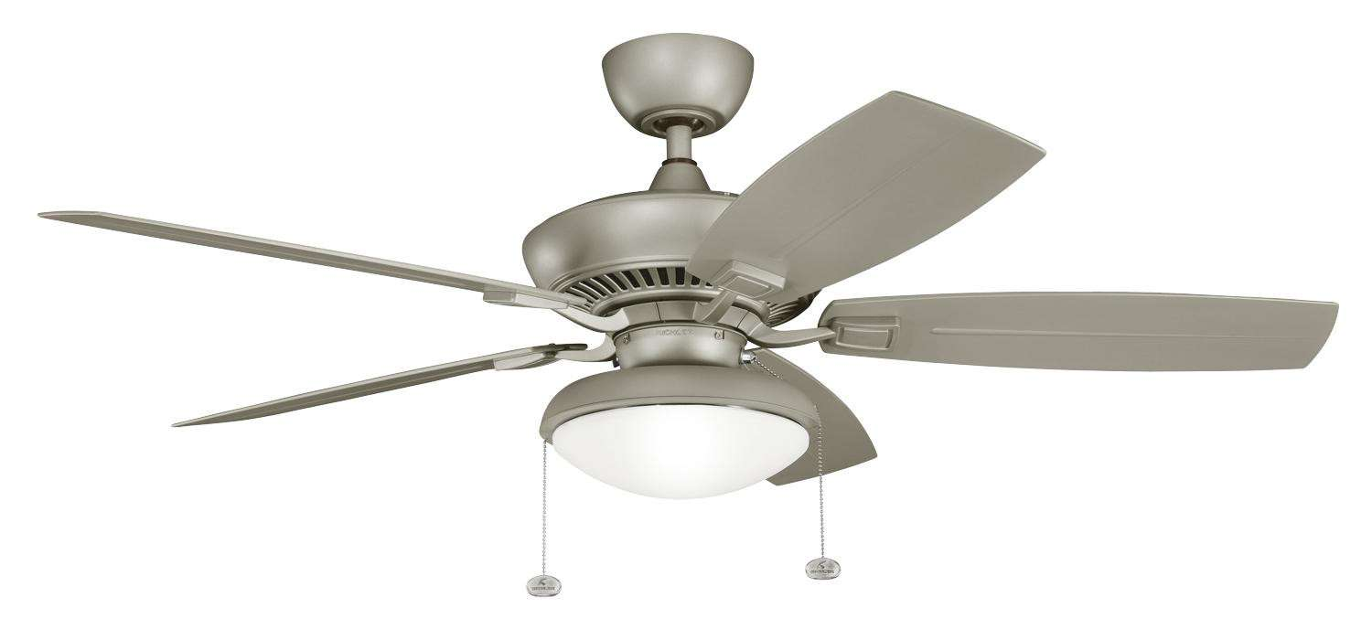 "Kichler 52"" Canfield Climates in Antique Satin Silver"