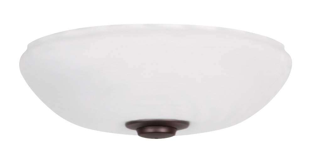 LK150OMAW Single Bowl Off White Ceiling Fan LED Light Fixture