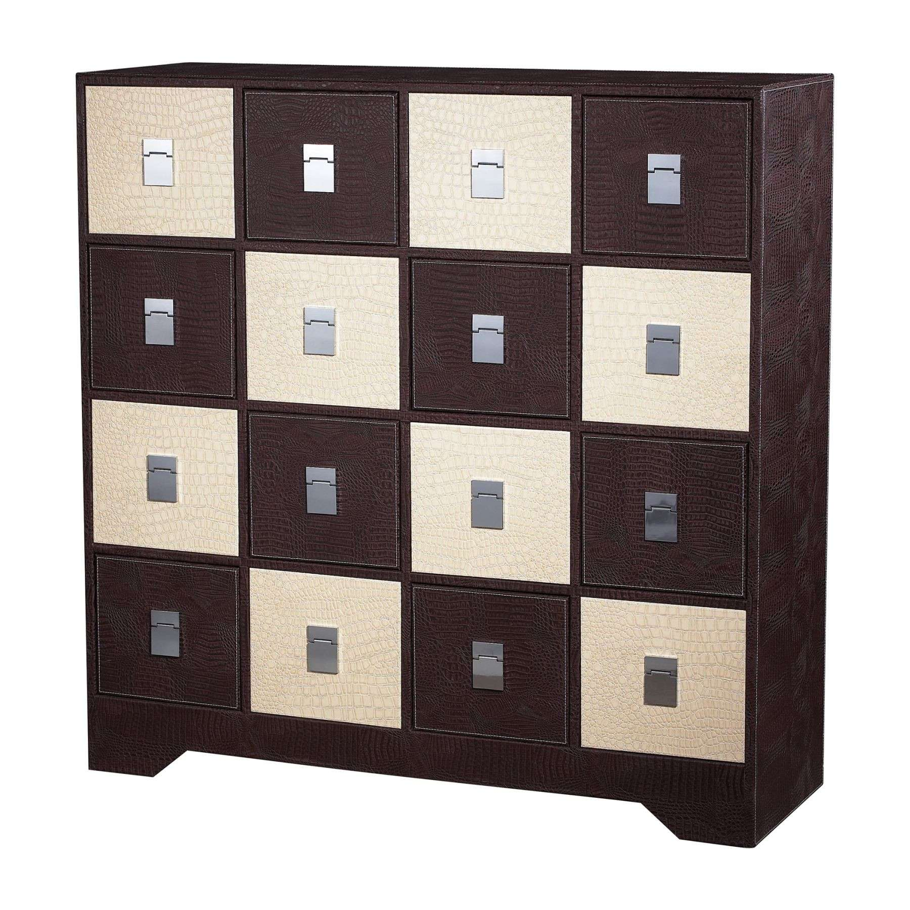 Sterling Furnishings 120-005 Choc / Cream Croc Multi Chest