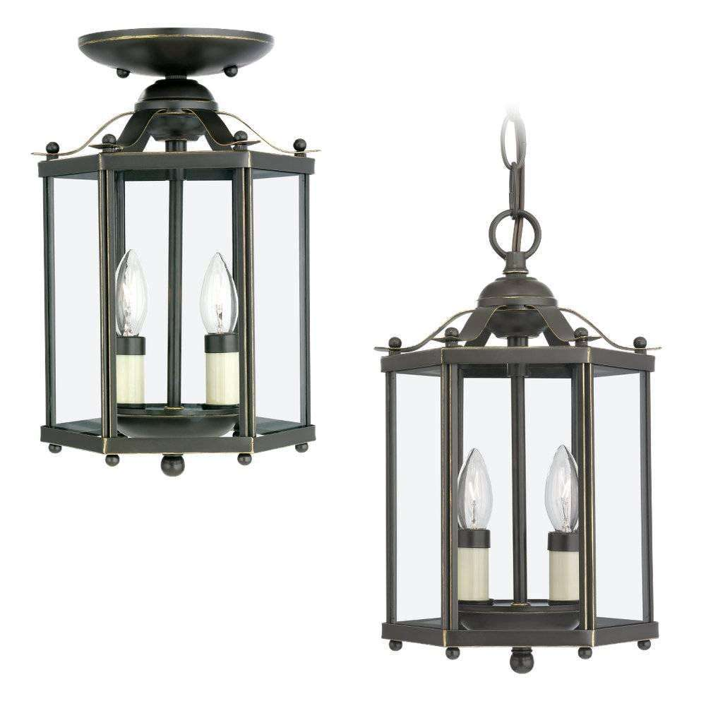 Seagull Lighting 5232-782 Two-Light Hall Foyer in Heirloom Bronze finish