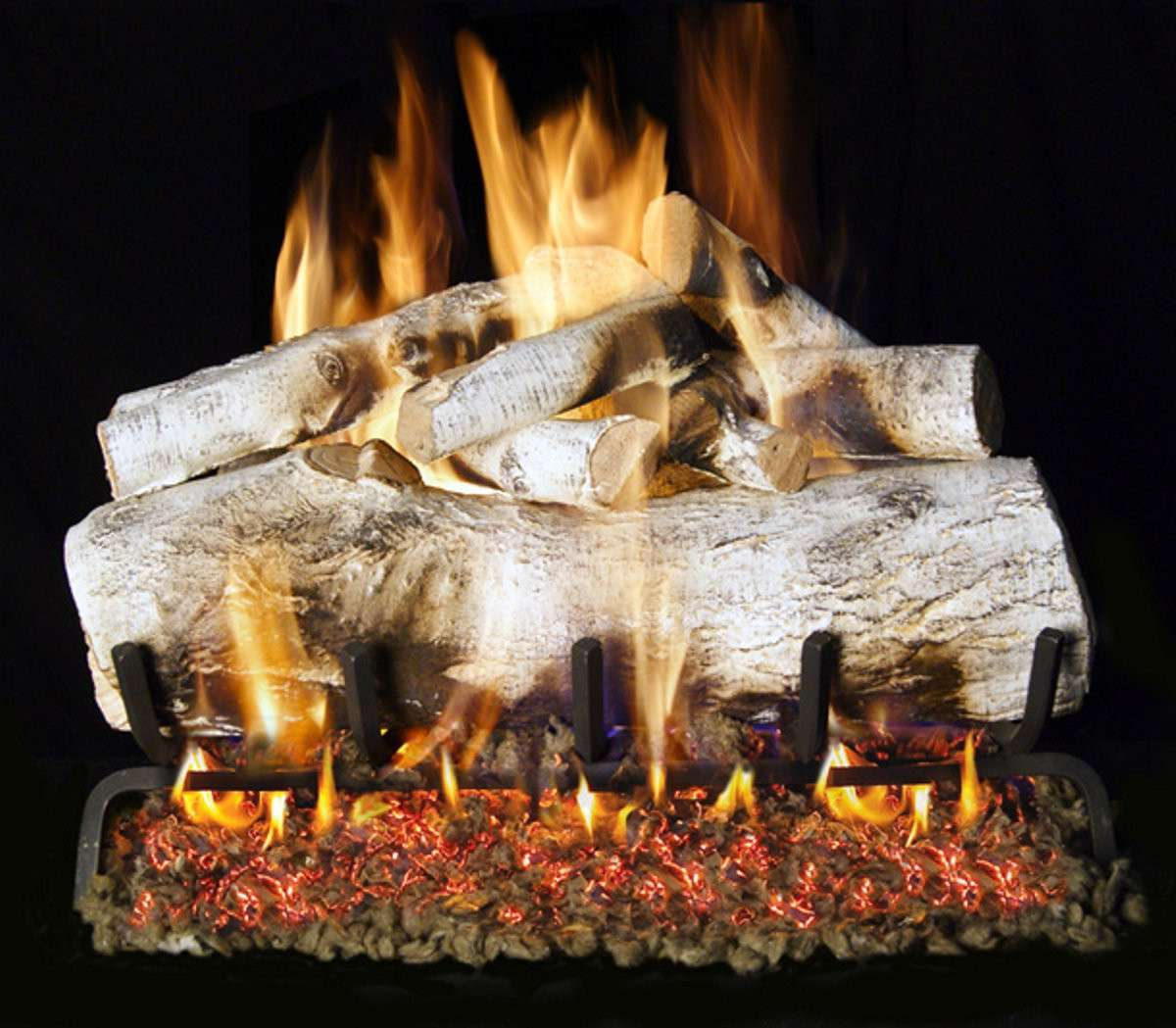 "R.H. Peterson MBW-2-30 SeeThru 30"" Mountain Birch. Logs Only (does not include burner). For use in wood burning fireplaces with a compatible vented gas log burner only."