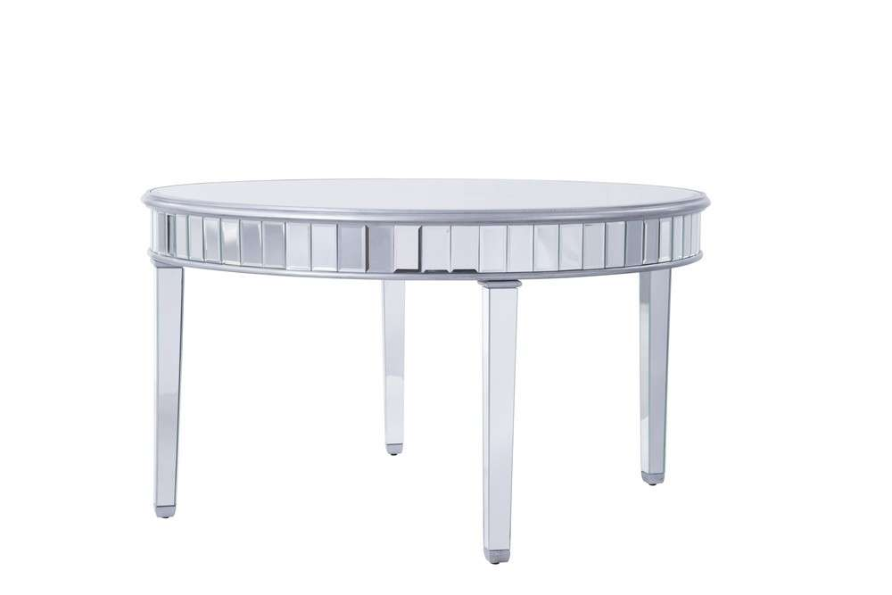 Round table D60 in. in Silver paint