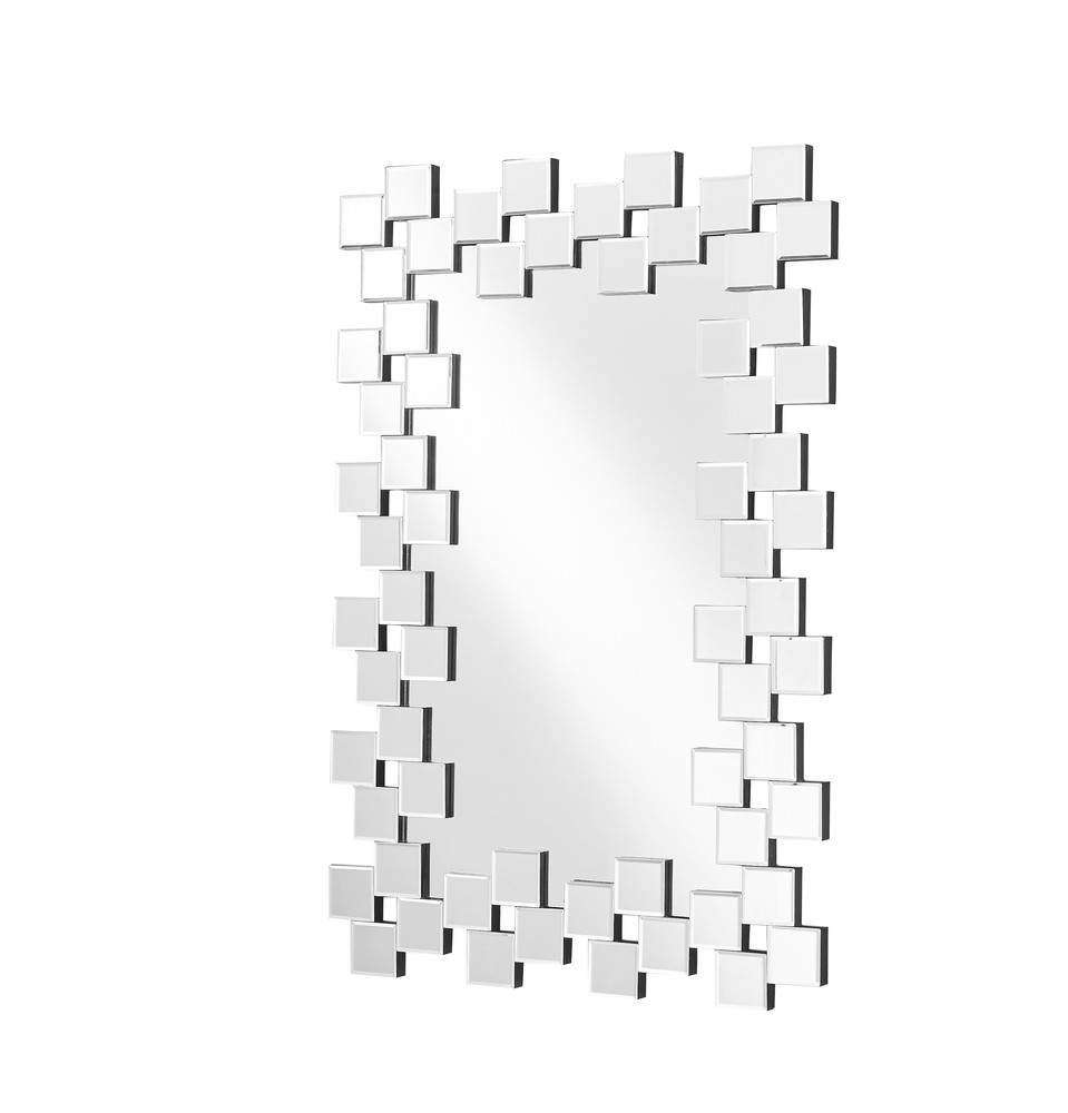 Sparkle 31.5 in. Contemporary Rectangle Mirror in Clear