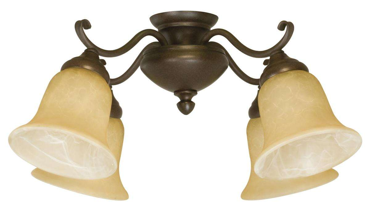 Craftmade LK405CFL-OB 4 Light Oiled Bronze Ceiling Fan Light Fixture