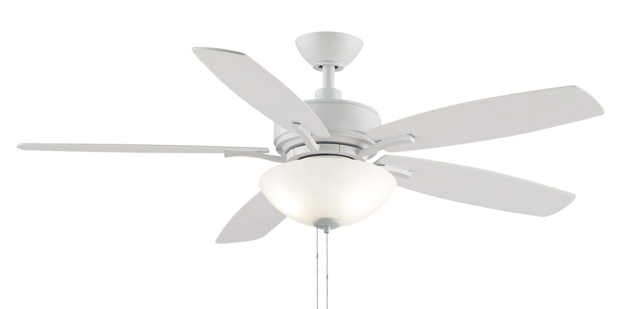 "Fanimation Aire Deluxe 52"" LED Ceiling Fan Model FP6285BMW in Matte White"