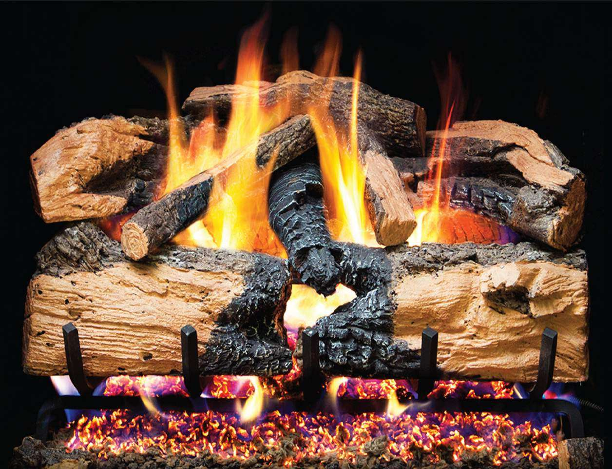 "R.H. Peterson ENS-30 Standard 30"" Charred Evergreen Split Oak. Logs Only (does not include burner). For use in wood burning fireplaces with a compatible vented gas log burner only."