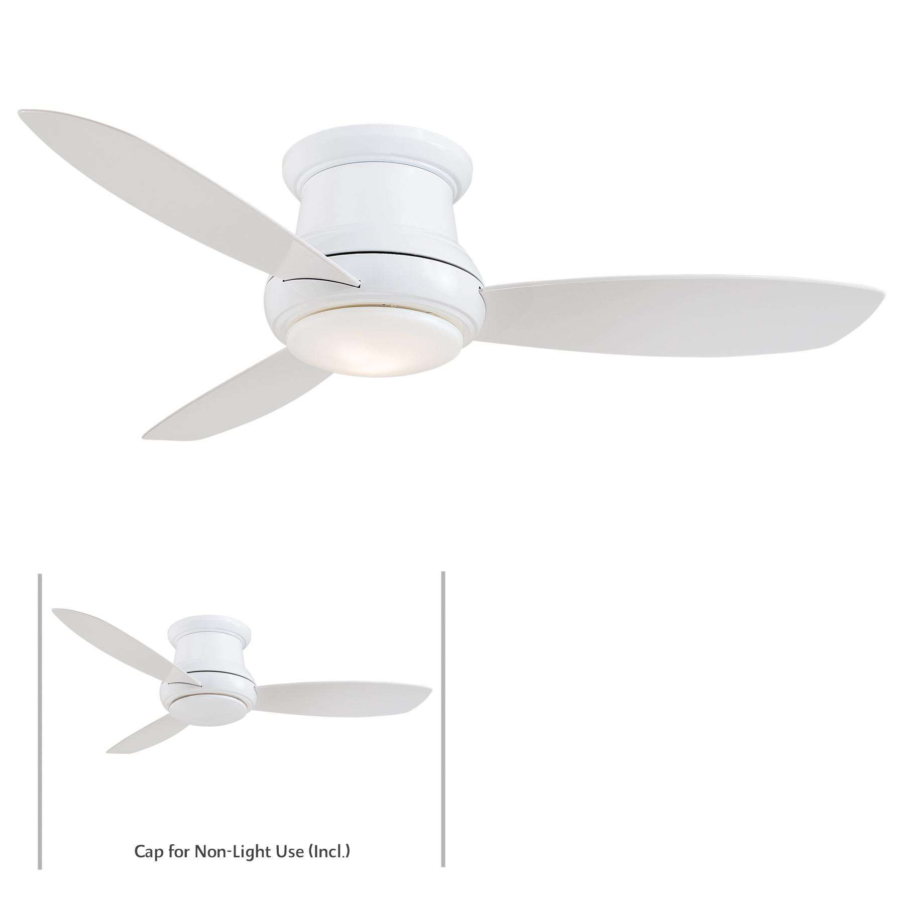 "Minka Aire 44"" Concept II LED Indoor Only in White"