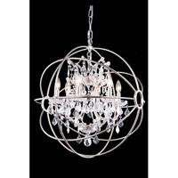 "1130 Geneva Collection Pendent lamp D:25"" H:27.5"" Lt:6 Polished nickel Finish (Royal Cut  Crystals)"