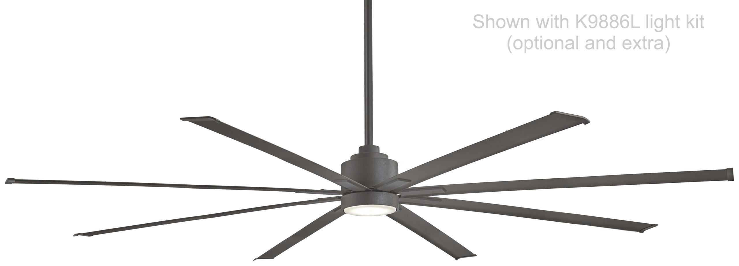 "Minka Aire F896-84-SI 84"" Wet Rated Xtreme Ceiling Fan Motor in Smoked Iron"