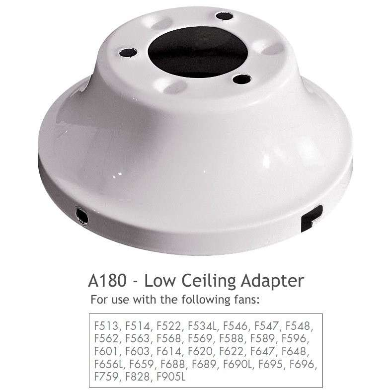 Low Ceiling Adapter in Heavy Textured White
