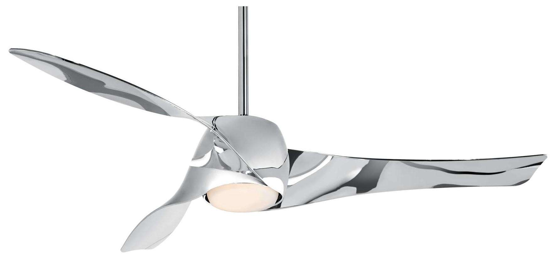 Minka Aire Artemis LED Ceiling Fan Model F803DL-LN in Liquid Nickel