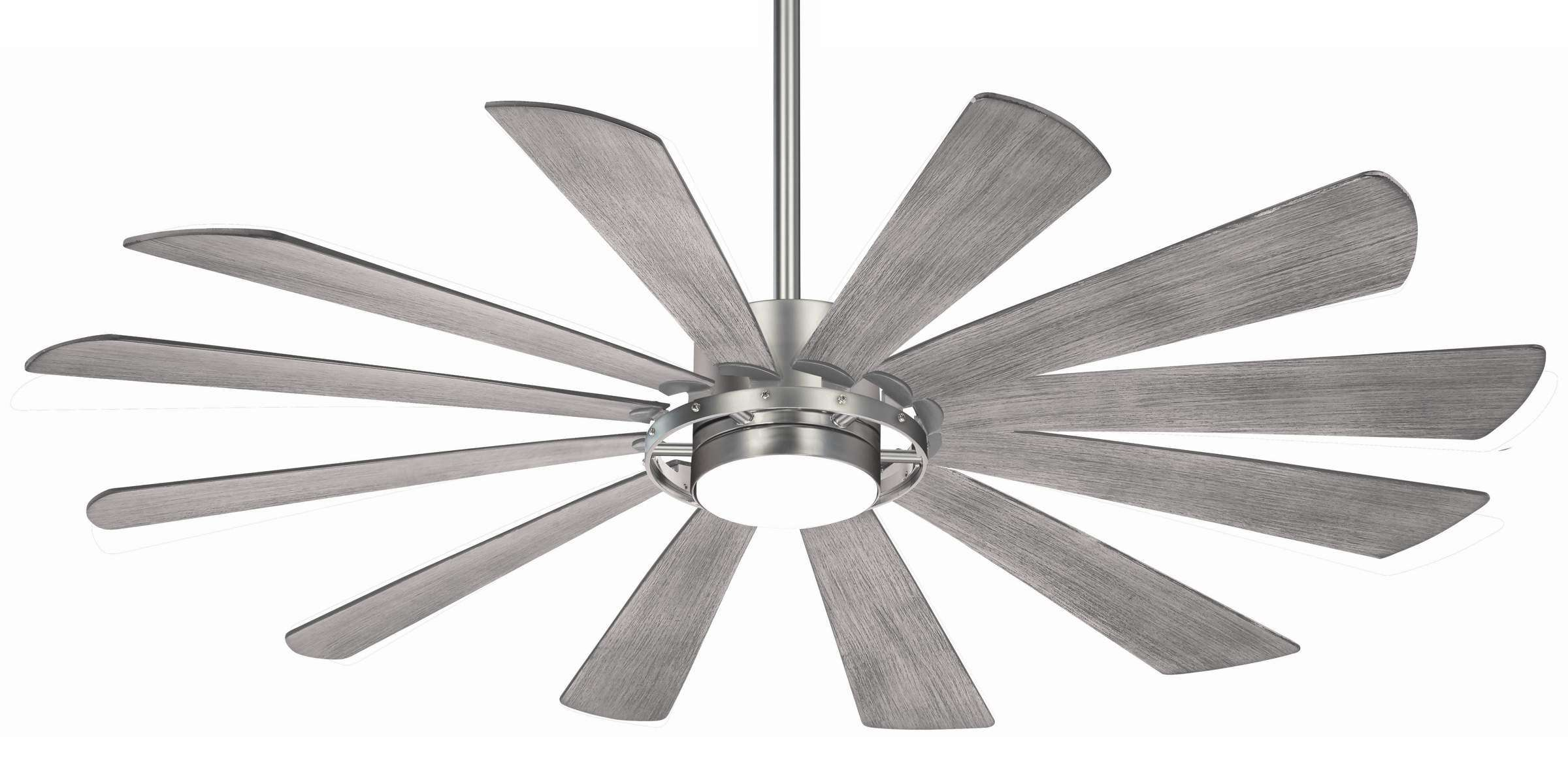 Minka Aire F870L-BS 65 Inch Windmolen Ceiling Fan in Brushed Steel