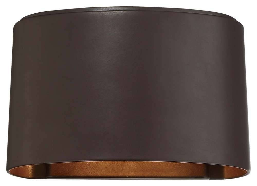 The Great Outdoors Everton 1 Lt Led Wall Mount In Dorian Bronze