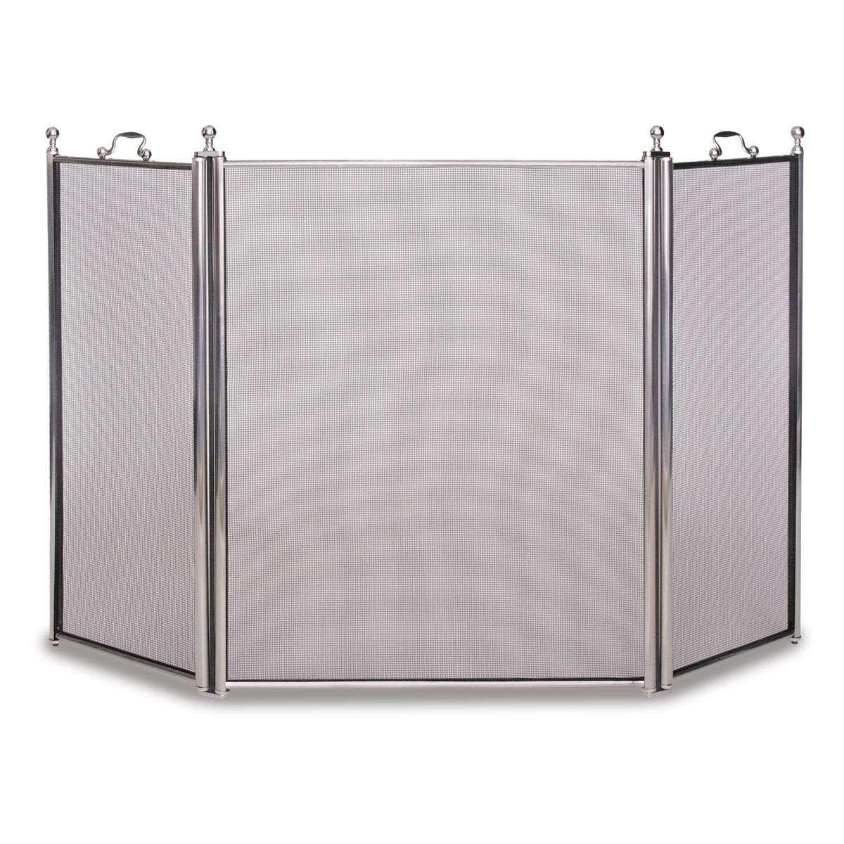 Napa Tiburon 3 Panel Folding Screen - Satin Nickel