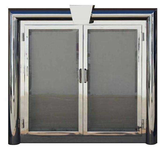 Custom Polished Chrome Fireplace Door - DF1G-FS9