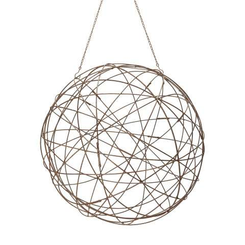 Aged Iron Wire Sphere - Large.