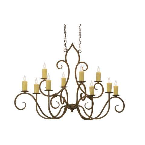 "48"" L Clifton 10 Lt Oblong Chandelier - Custom Crafted In Yorkville - New York Please Allow 30 Days"