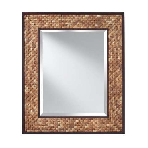 Weave Natural Coconut and Kona - Mirror
