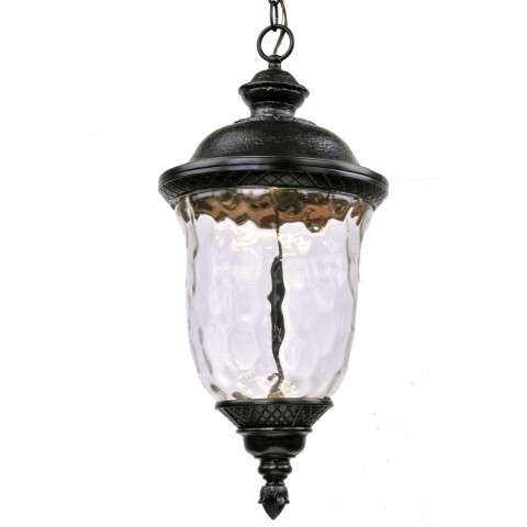 Carriage House LED Outdoor Hanging Lantern in Oriental Bronze