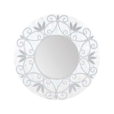 Surrey Wall Mirror In Silver And White