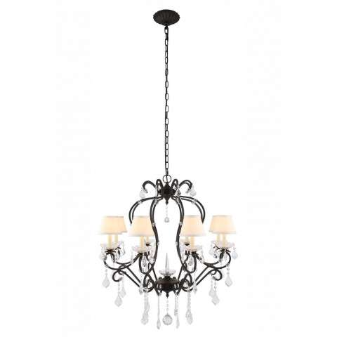 "Urban Classic - 1471 Diana Collection Chandelier D:31"" H:34"" Lt:8 Vintage Bronze Finish"