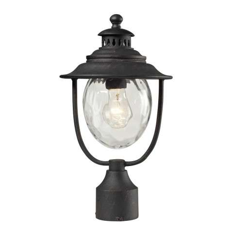 Searsport 1 Light Post Mount In Weathered Charcoal