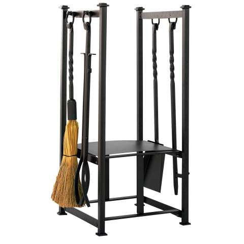 Uniflame W-1198 Olde World Iron Log Rack With Tools