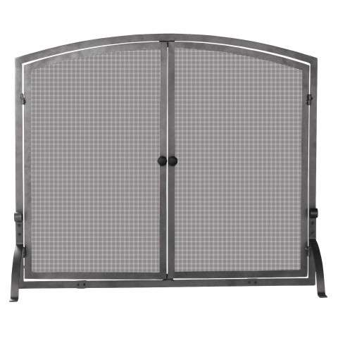 "Single Panel Olde World Iron Screen With Doors - Medium - 39"" Wide x 33"" Tall"