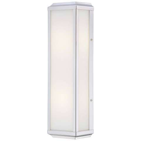 Minka Lavery 2 Light Wall Sconce In Polished Nickel Finish W/ White Glass
