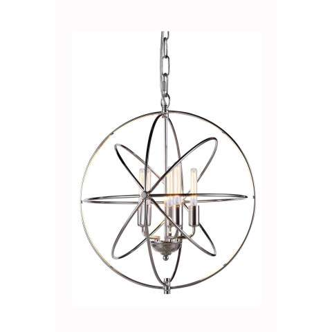"1453 Vienna Collection Pendant lamp D:20"" H:22"" Lt:5 Polished Nickel Finish"