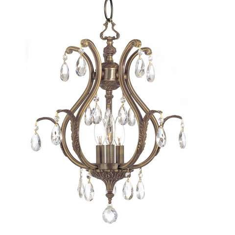 Crystorama 5560-AB-CL-S Swarovski Elements Chandelier