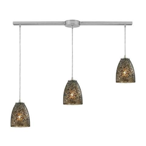 Fissure 3 Light Pendant In Satin Nickel