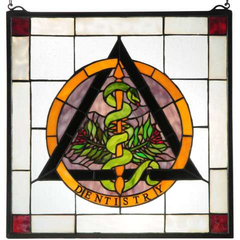 Dentistry Stained Glass Window