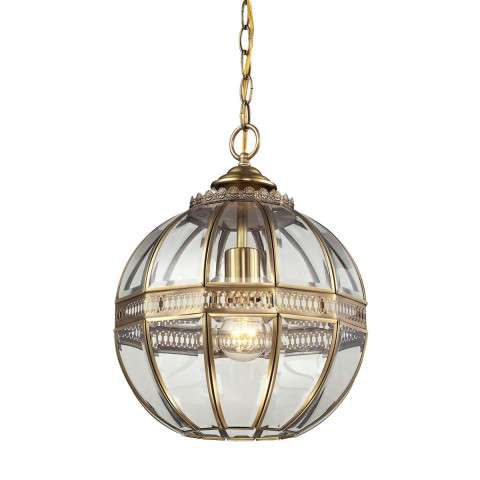 Randolph 1 Light Pendant In Brushed Brass