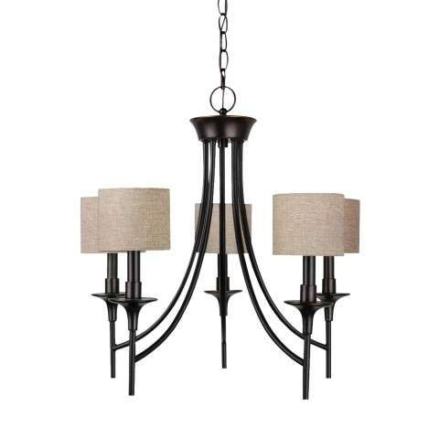 Seagull Lighting 31942-710 Five Light Chandelier in Burnt Sienna finish