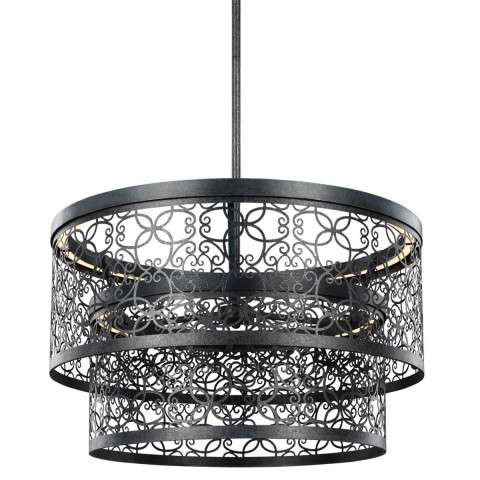 Arramore 2 - Light Outdoor Pendant in Dark Weathered Zinc