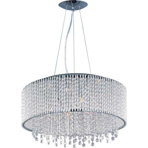 ET2 Contemporary Lighting E23137-10PC Spiral 10-light Single Pendant in Polished Chrome finish