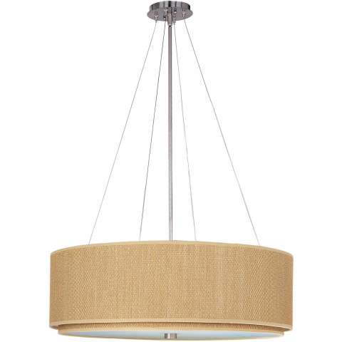 ET2 Contemporary Lighting E95165-101SN Elements 4-light Single Pendant in Satin Nickel finish