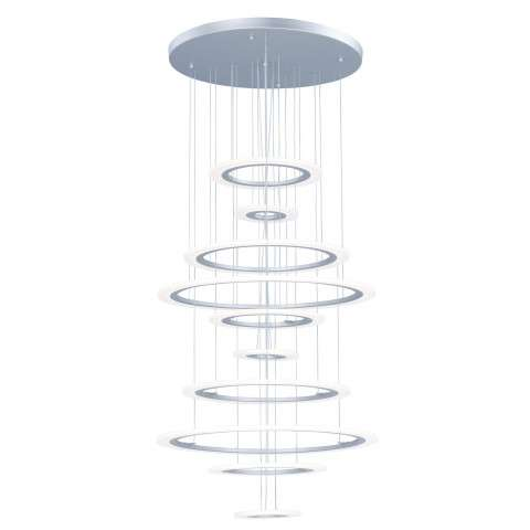 Saturn II LED 10-Light Pendant in Matte Silver
