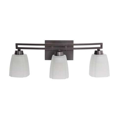 Bathroom Fixture - Sumner 3 Light Vanity Fixture In Oiled Bronze