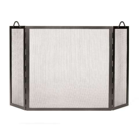 "Twisted Rope Folding Screen Iron - 52"" Wide x 30"" Tall"