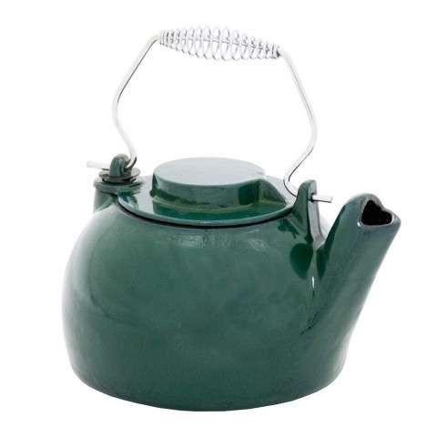 2.5 Quart Cast Iron Humidifying Kettle - Green