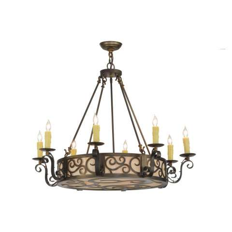 "36"" W Delano 8 Lt Chandelier. Custom Crafted In Yorkville - New York Please Allow 30 Days"