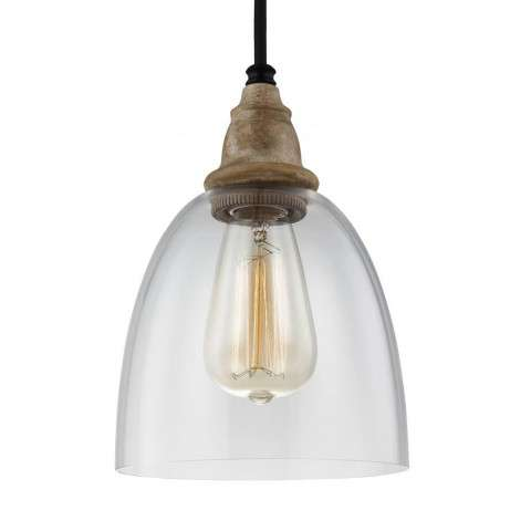 Matrimonio 1 - Light Mini - Pendant in Driftwood / Dark Weathered Zinc