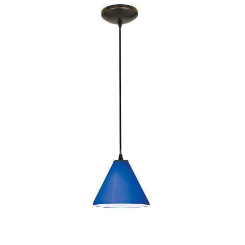 Access Lighting 28004-1C-ORB/COB Sydney Inari SilkOriental Glass Pendantin Oil Rubbed Bronze finish
